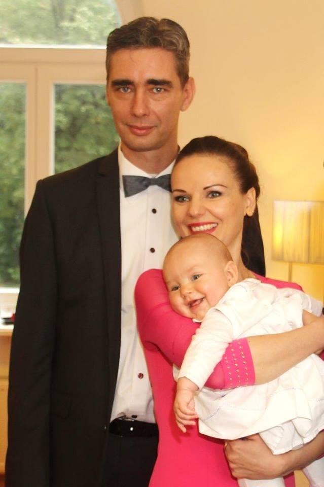 a Recsenyédi család: Gábor, Justyna és Irma