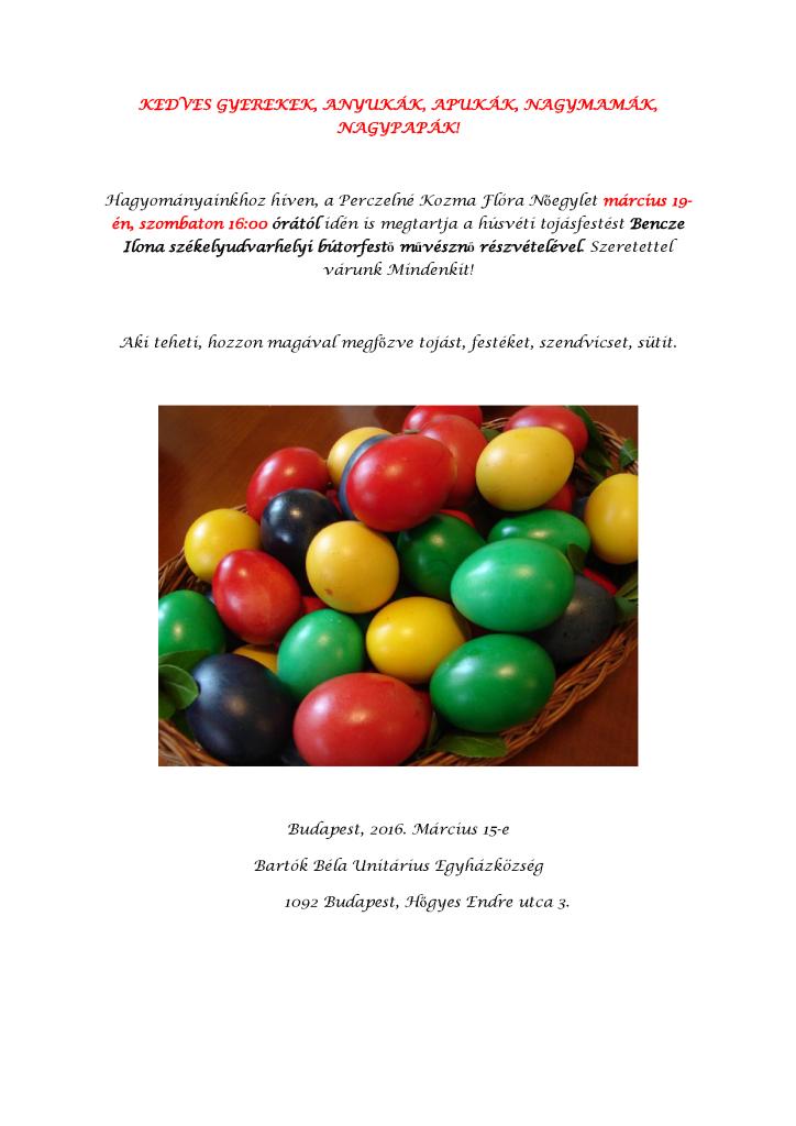 húsvéti meghívó - tojásfestés